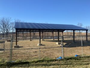 The final result of the solar panels at Dane County Park.